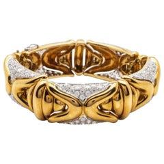 Gorgeous 5.10 Carat, Gold and Diamond Bracelet, 18 Karat