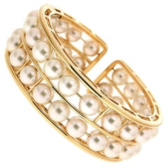 Valentin Magro Floating Two Rows Pearl Bracelet