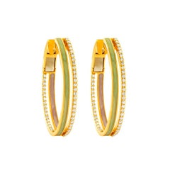 18 Karat Rose Gold and 0.32 Carat Spectrum Inside Out Hoops by Alessa Jewelry