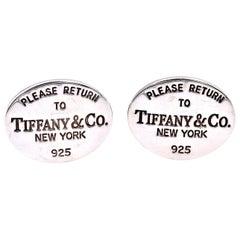Tiffany & Co. Sterling Silver Return to Tiffany Cufflinks