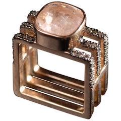 Ia Jewels 14 Carat Gold Kunzite Diamond Fashion Ring