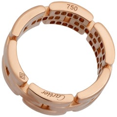 Cartier 18 Karat Rose Gold Maillon Panthere Diamond Ring