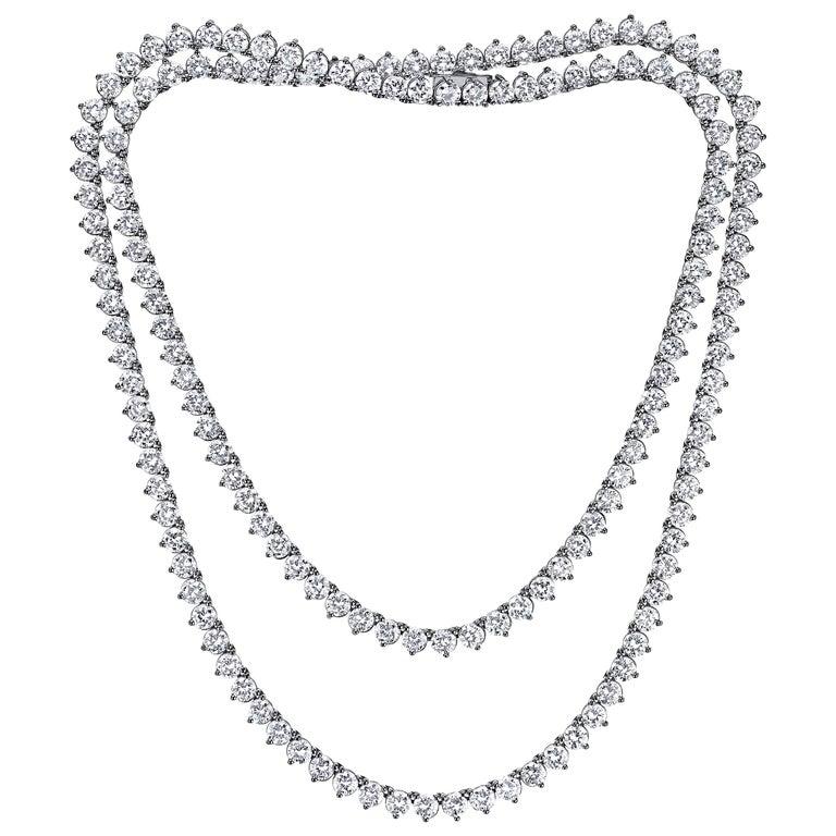 Emilio Jewelry 17.00 Carat Diamond Necklace For Sale