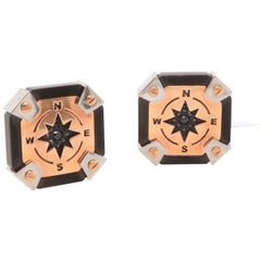 Spinel Compass Style Cufflinks