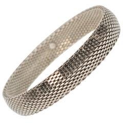 Sterling Silver Woven Flexible Bangle Style Bracelet
