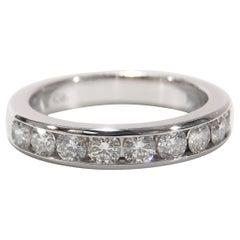Platinum Tiffany & Co. Diamond Ring Channel Set Genuine