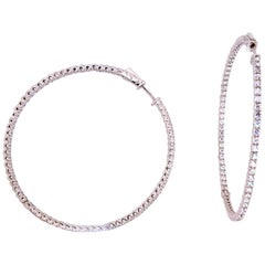 Silver CZ Hoop Earrings