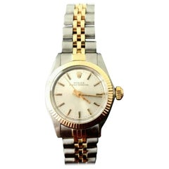 Rolex 6719 Ladies Oyster Perpetual 18 Karat Gold and Stainless Steel Watch