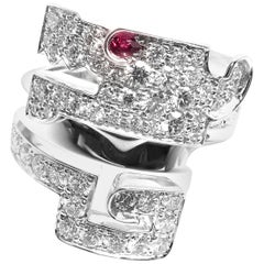 Cartier Le Baiser Du Dragon Ruby Diamond Gold Ring