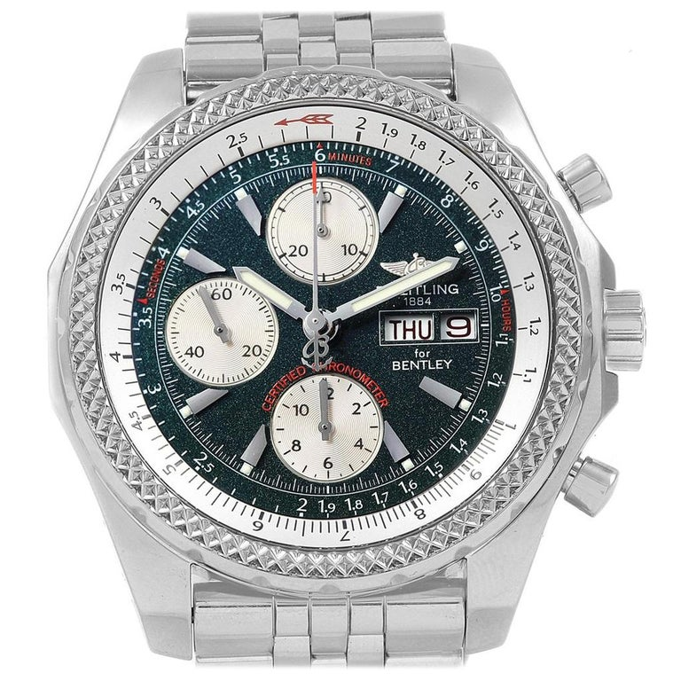 Breitling Bentley Gt Wristwatches: Breitling Bentley Motors GT Green Special Edition Men's
