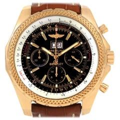 Breitling Bentley Motors 6.75 Yellow Gold Chronograph Men's Watch K44362