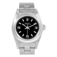 Rolex Non-Date Black Dial Oyster Bracelet Ladies Watch 76080