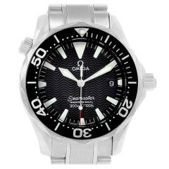 Omega Seamaster Midsize Black Dial Steel Quartz Men's Watch 2262.50.00