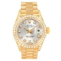 Rolex President Datejust Yellow Gold Diamond Ladies Watch 69238