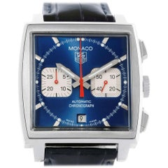 TAG Heuer Monaco Blue Dial Automatic Chronograph Men's Watch CW2113