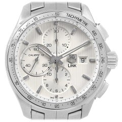 TAG Heuer Link Steel Silver Dial Chronograph Men's Watch CAT2011