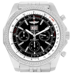 Breitling Bentley Motors Chrono Black Dial Men's Watch A44362 Box Papers