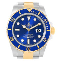 Rolex Submariner 40 Blue Dial Steel Yellow Gold Automatic Watch 116613