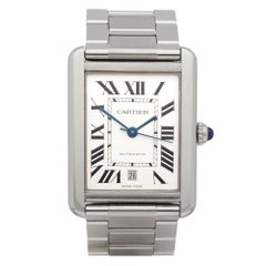 Cartier Tank Solo 3800 Stainless Steel Gents Wristwatch