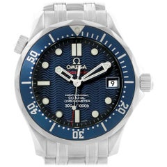 Omega Seamaster Midsize Co-Axial Blue Wave Dial Watch 2222.80.00