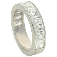Hancocks Half Eternity Ring Channel-Set with French-Cut 3.67 Carat Diamonds