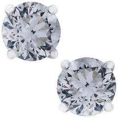 Vivid Diamonds IGI Certified 2.02 Carat Diamond Stud Earrings