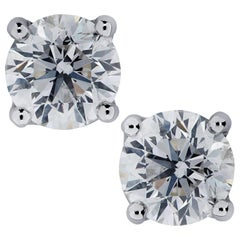 Vivid Diamonds 1.46 Carat Diamond Stud Earrings