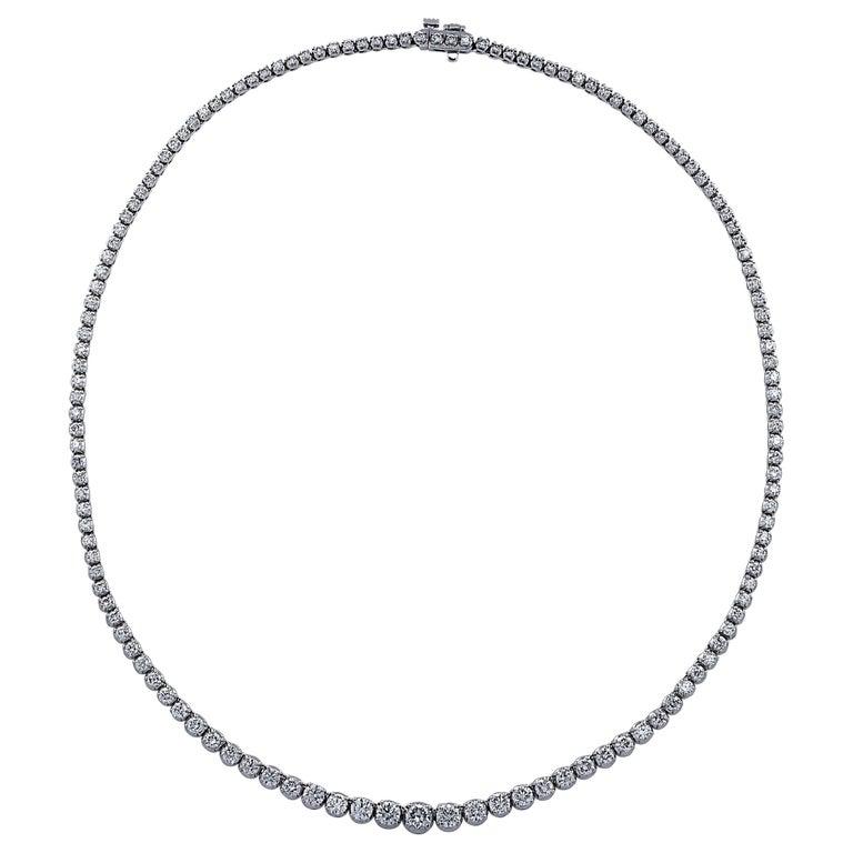 6.5 Carat Diamond Riviere Necklace