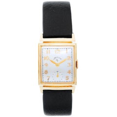 Lord Elgin Yellow Gold Vintage Manual Wristwatch, circa 1950s