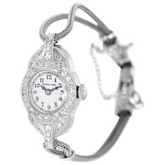 Hamilton Ladies White Gold Diamond Wristwatch