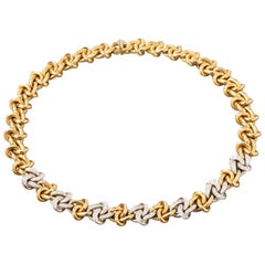 Gold and Diamonds Fashion Necklace
