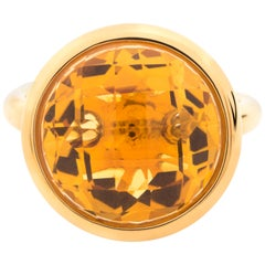 Gold and Citrine Candy Ring