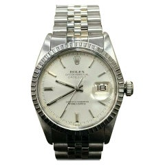 Rolex Datejust 16030 Silver Index Dial Stainless Steel Jubilee Band