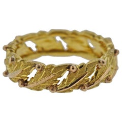 Mario Buccellati Leaf Gold Band Ring