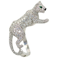 Cartier Diamond Walking Panthere Ring