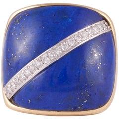 Leaderline Lapis Lazuli and Diamond Ring