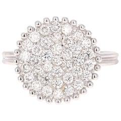 0.94 Carat Diamond Ring 14 Karat White Gold