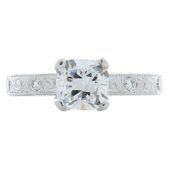 1.01 Carat Cushion Cut Diamond Cocktail Ring in Platinum