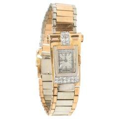 Patek Philippe 1940s Art Deco Solid Gold /Diamond Scroll Watch