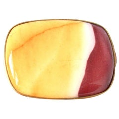 Jasper Bronze Red Orange Cocktail Ring