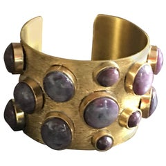 Bronze Star Ruby Cabochon Bangle
