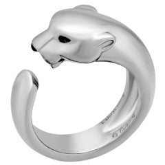 Cartier 18 Karat White Gold Panthere de Cartier Ring