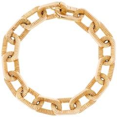 Boucheron Ribbon Motif Gold Bracelet