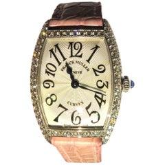 Franck Muller 18 Karat Gold Diamond Curvex Ladies Watch 1752 QZ D