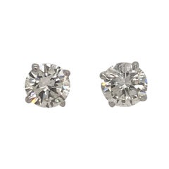 GIA Certified Diamond Stud Earrings 3.08 Carat I-J SI2-I1