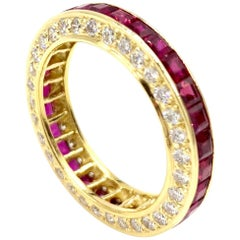Gumuchian 18 Karat Ruby and Diamond Captiva Eternity Band