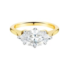 1.71 Marquise Diamond Engagement Ring