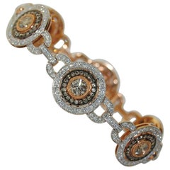 7.75 Carat Women's Diamond Bracelet, 18 Karat Gold