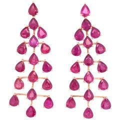 Ruchi New York Ruby Chandelier Earrings