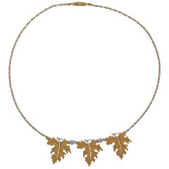 Mario Buccellati Leaf Gold Pendant Necklace